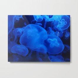 Blue Jellyfish I Metal Print
