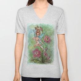 Flower Fairy Unisex V-Neck