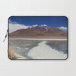 II - Desert lake Laguna Cañapa, Altiplano, Bolivia on a sunny day Laptop Sleeve