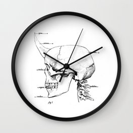 Horned Skull Wall Clock