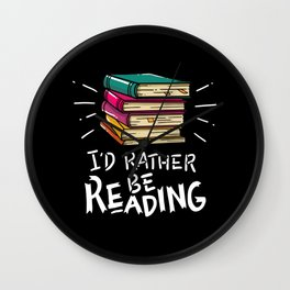 Book Worms - I'd rather be reading Wall Clock