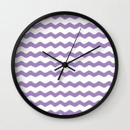 Purple Zigzag Pattern Wall Clock