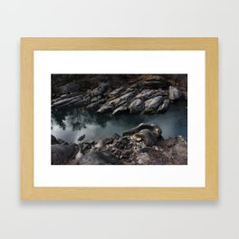 Rock Soft Framed Art Print