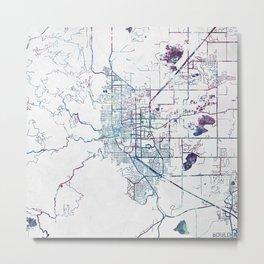 Boulder map Colorado Metal Print