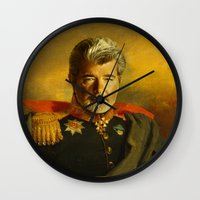 replaceface Wall Clocks featuring George Lucas - replaceface by replaceface