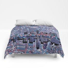 austin texas city skyline Comforters
