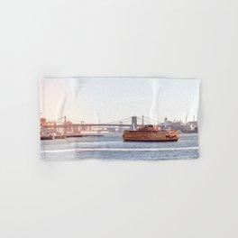 Staten Island Ferry to Manhattan Hand & Bath Towel