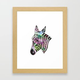 Disco Zebra Framed Art Print