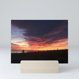 RAGING SUNSET Mini Art Print