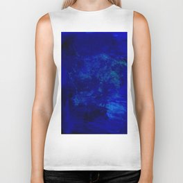 Blue Night- Abstract digital Art Biker Tank