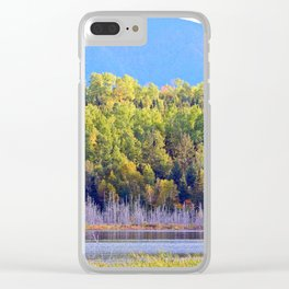 Lakeside Forest Below the Mountain Clear iPhone Case