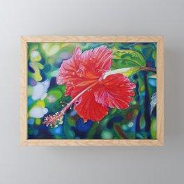Tropical Hibiscus Framed Mini Art Print