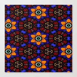 Orange Hexagons Canvas Print