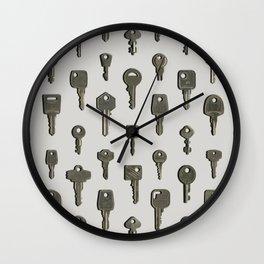 Silver Keys Wall Clock