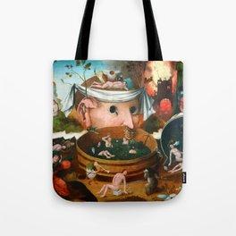 "Hieronymus Bosch (school) ""The Vision of Tnugdalus"" Tote Bag"