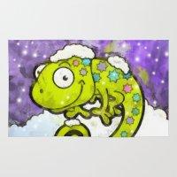 chameleon Area & Throw Rugs featuring Chameleon by Martin Jonas
