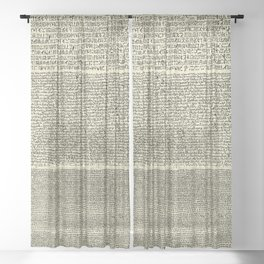 The Rosetta Stone // Parchment Sheer Curtain
