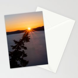 Sunset Tree Top Stationery Cards