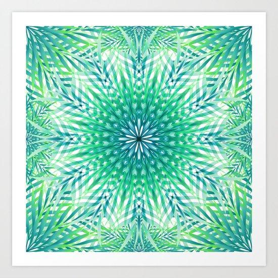 Palm Leaf Mandala Art Print