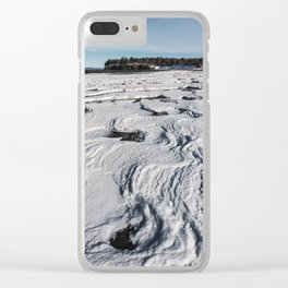 Layered Tides Clear iPhone Case
