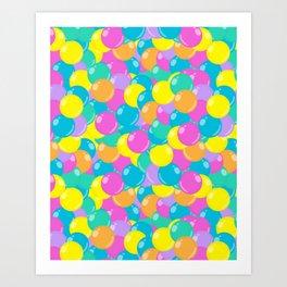Pastel Rainbow Round Candy – Ball Pit Art Print