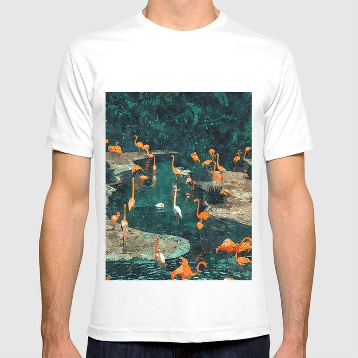 Flamingo Creek #flamingo #tropical #illustration T-shirt