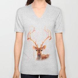 Fairy Deer Unisex V-Neck
