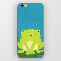 frog iPhone & iPod Skins featuring Frog by Claire Lordon