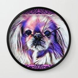Peak in purple Wall Clock