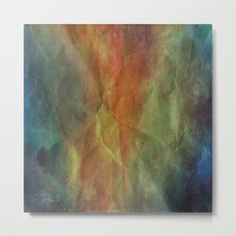 Crumpled Paper Textures Colorful P 415 Metal Print