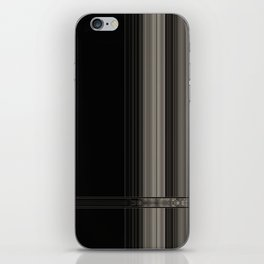 Modern Black Ribbon Pattern Design iPhone Skin