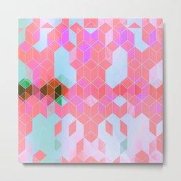 Pink Groove Metal Print