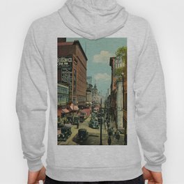 Montreal busy St. Catherine Street 1920s Hoody