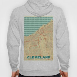 Cleveland Map Retro Hoody