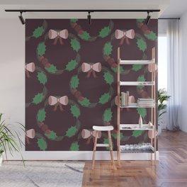 Mistletoe wreath Wall Mural