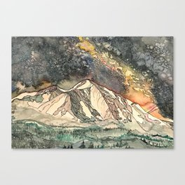 Mount Sopris and the Galaxy Canvas Print