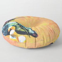 Bright Hummingbird Floor Pillow