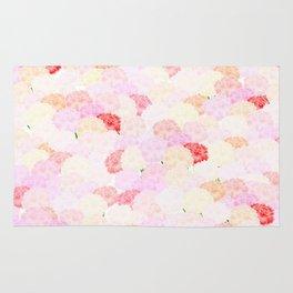 Carnation background wallpaper Rug