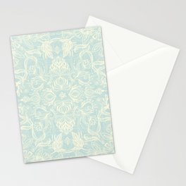 Pale Jade Tattoo - a pattern Stationery Cards