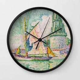"Paul Signac ""Tour des Quatre Sergents, La Rochelle"" Wall Clock"