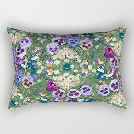 Winter Solstice Moths Rectangular Pillow