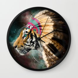 Fight For What You Love (Chief of Dreams: Tiger) Tribe Series Wall Clock