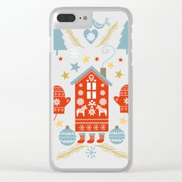 Laplander Winter Holiday Clear iPhone Case
