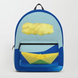 The yellow cloud over the yellow ship Backpack