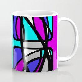 Community II - Purple and Blue Abstract Coffee Mug