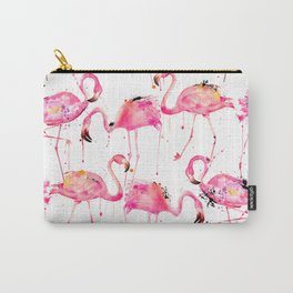 Flamingos making a splash! Carry-All Pouch