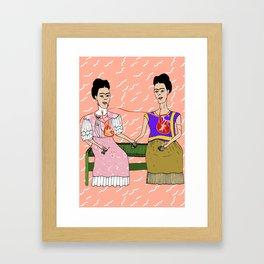 The Two Fridas Framed Art Print