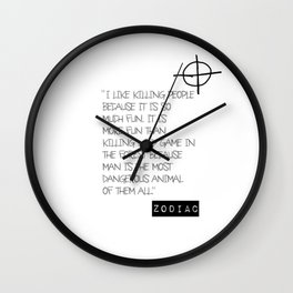 Zodiac Killer Wall Clock