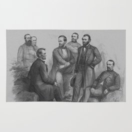 President Lincoln and His Commanders Rug