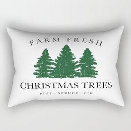 Farm Fresh Christmas Trees Rectangular Pillow